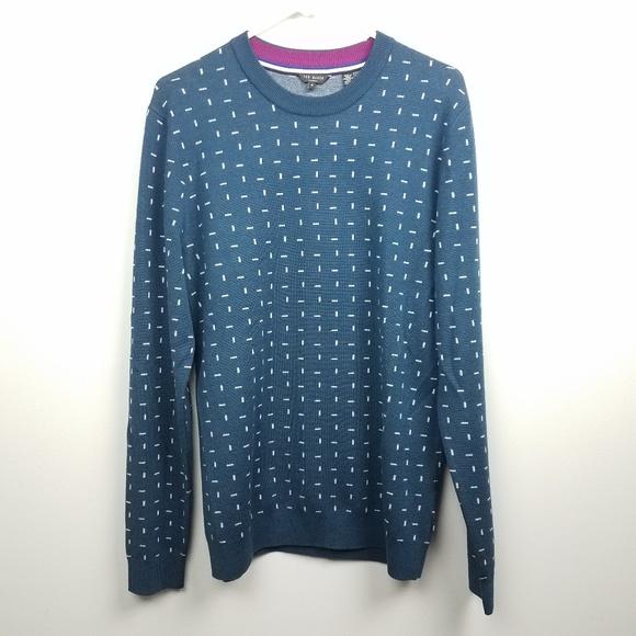 af811d091dec9 Ted Baker Womens Sweater Size 4 Large Blue Wool. M 5b621224c61777732316856d